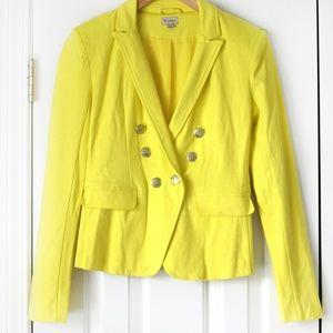 Cremieux bright yellow blazer jacket